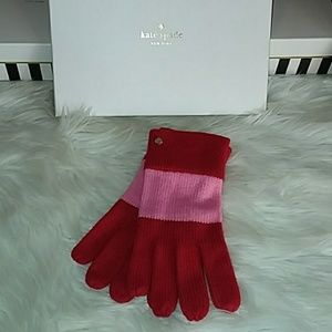 Red & Pink Kate Spade Gloves